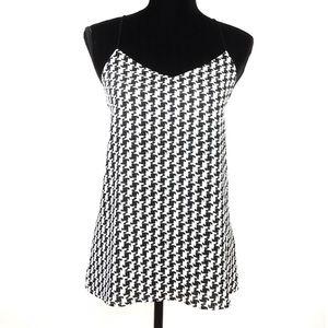 Express Black & White Houndstooth Print Tunic Sz M